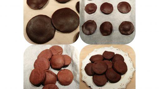 foto biscotti da infornare e sfornati