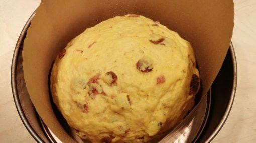Pan in teglia in lievitazione