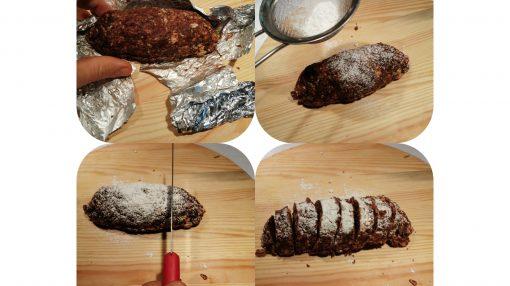 Tagliare il salame al cioccolato