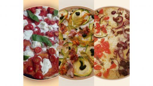 foto tre tipi di farcitura pizza