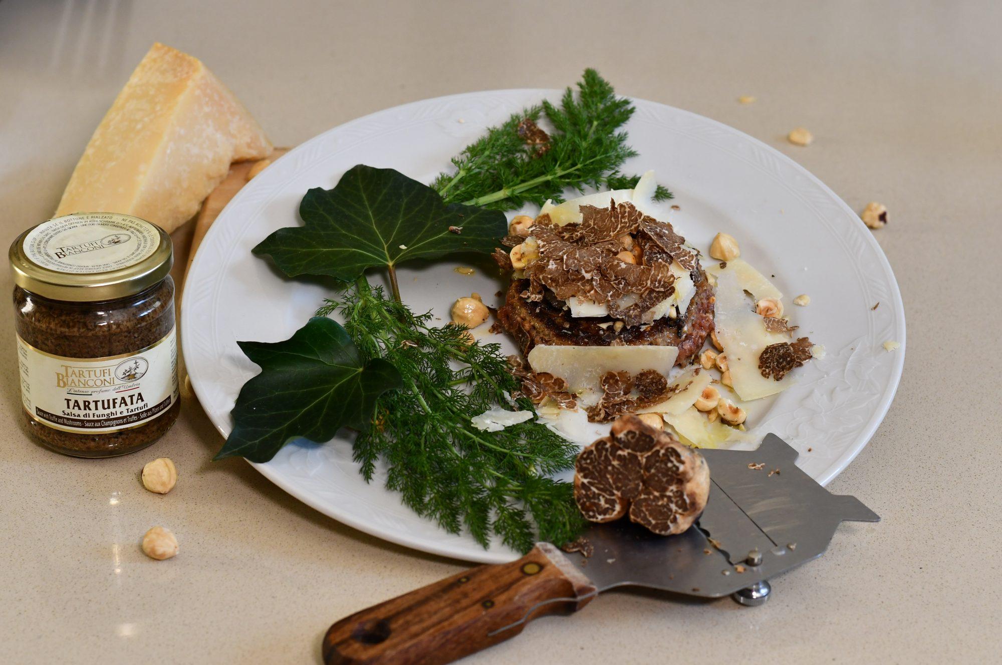 foto hamburgher gourmet al tartufo