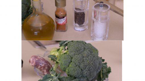 foto ingredienti sugo broccoli e salsiccia